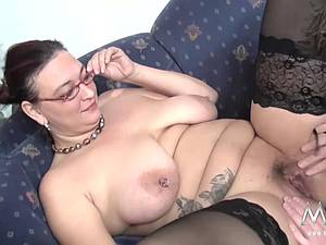 Thick secretary with glasses licked and loved