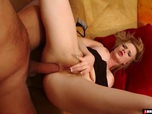 Kinky blonde with nice tits enjoys getting anally pounded