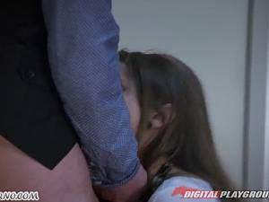 Busty babe Madison Ivy seduces young boy