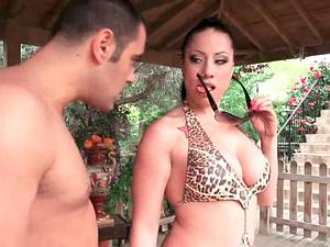 Hot Latina horny for a good dick inside by the pool