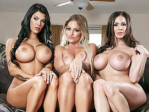 Lucky man has three gorgeous busty wives Kendra Lust, Kissa Sins and Peta Jensen