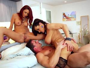 Hot and horny MILF sandwich